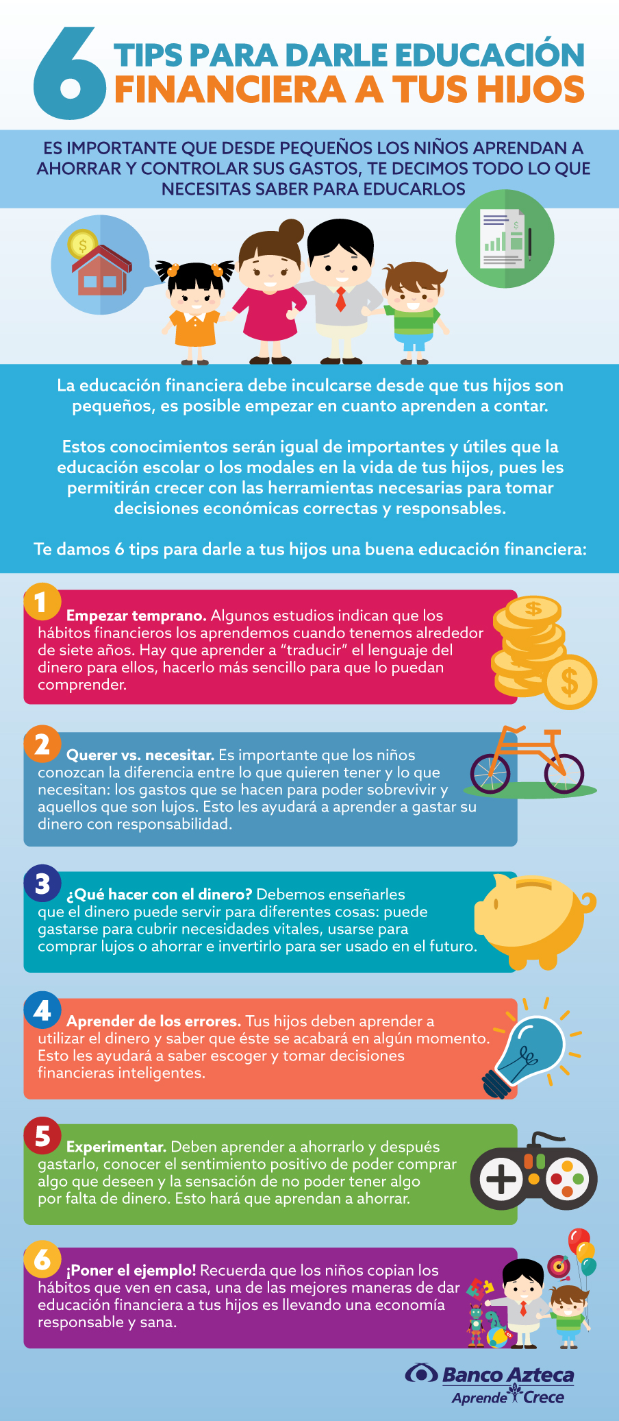 Infografía describe 6 tips